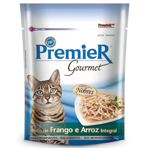Sachê Premier Pet Gourmet Gatos Frango & Arroz