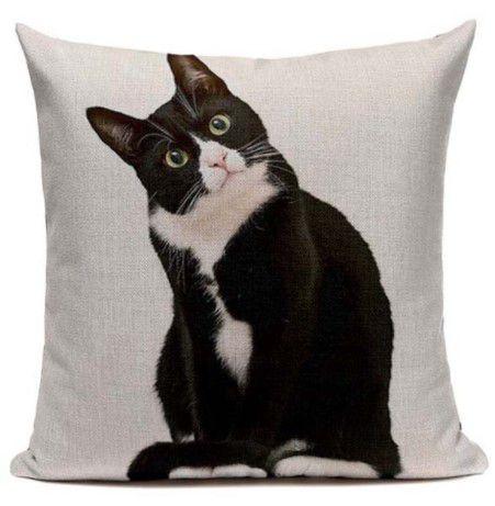Capa de almofada Gato Tuxedo