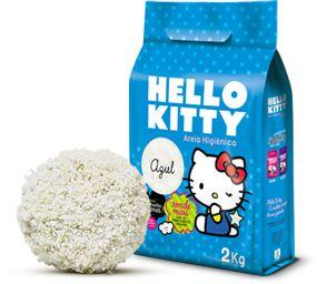 Areia higiênica Hello Kitty tradicional