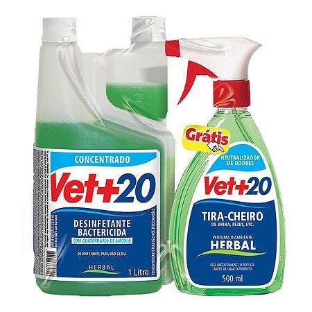 Desinfetante concentrado Vet +20 1 L Herbal