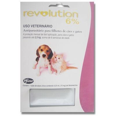 Revolution Filhotes Cães e gatos