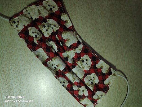 Mascara reutilizável em tecido dogs raça