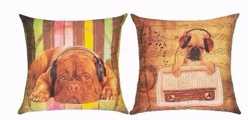 Capa de Almofada Cão dupla face