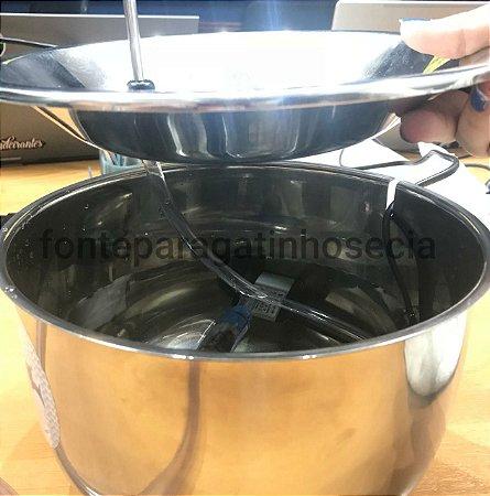 Filtro completo dupla filtragem para fontes em inox