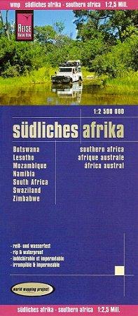 Mapa rodoviário da África - Região Sul