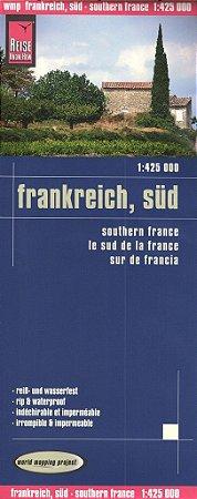 Mapa rodoviário da França - Região Sul