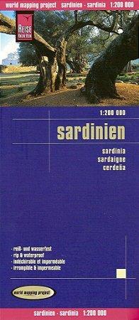 Mapa rodoviário da Sardenha