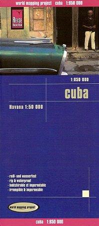 Mapa rodoviário de Cuba
