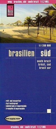 Mapa rodoviário do Brasil - Região Sul