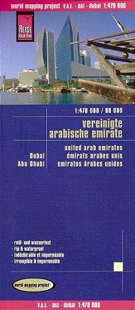 Mapa rodoviário dos Emirados Árabes & Dubai