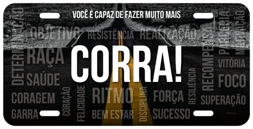 "Placa Decorativa Corrida ""Corra"""