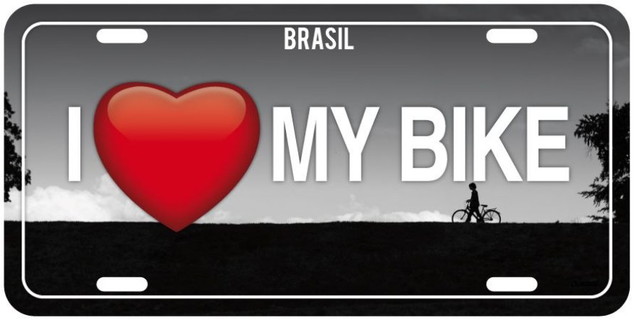 "Placa Decorativa Bike ""I love my Bike"""