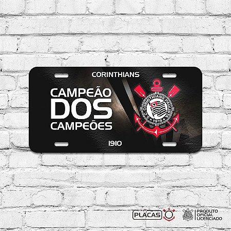 """Placa Decorativa Corinthians """"Campeão dos Campeões"""""""