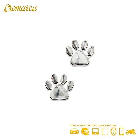 Adesivo CROMADO PATINHAS DOG - Cromarca Store 2374ee33637fc