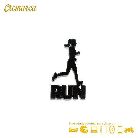 Adesivo PRETO - Run Women Corredora - Cromarca Store 8a3463357262e