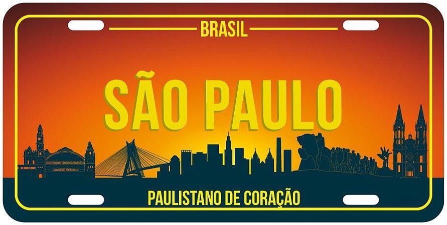 Placa Decorativa SÃO PAULO skyline