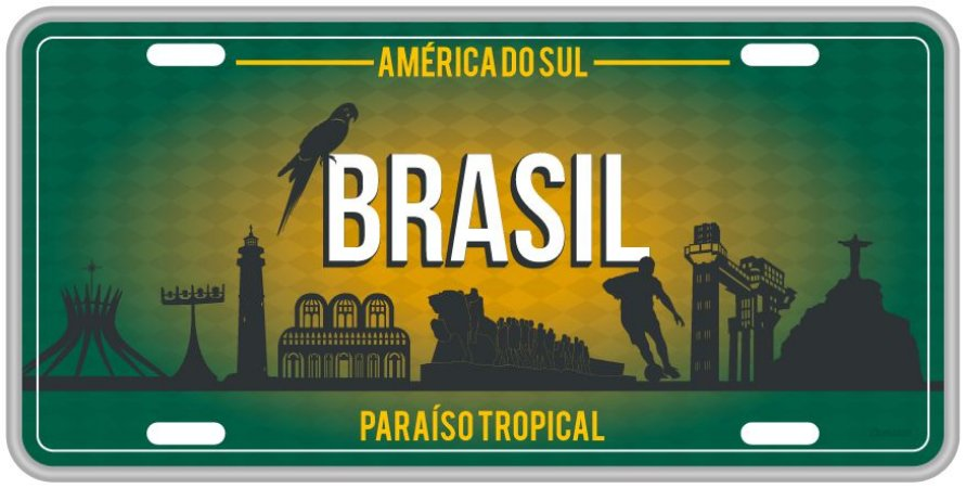 Placa Decorativa Brasil - América do Sul