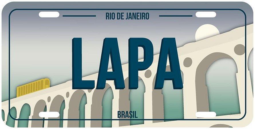 Placa Decorativa RJ - Lapa