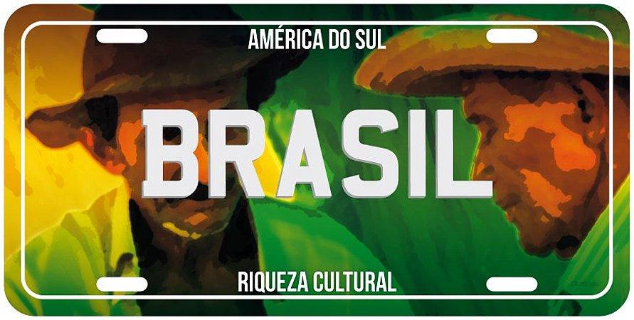 Placa Decorativa BR - Brasil Cultura