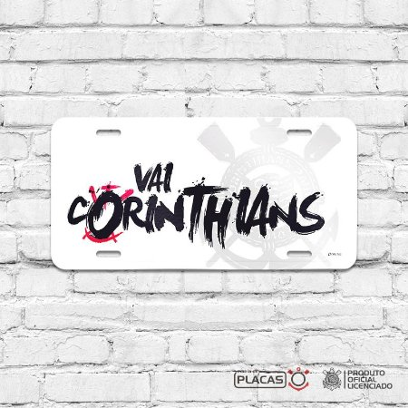 Placa Decorativa Corinthians  - Vai Corinthians