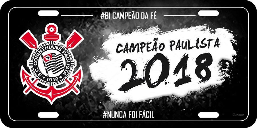 Placa Decorativa Corinthians - #BicampeãoDaFé