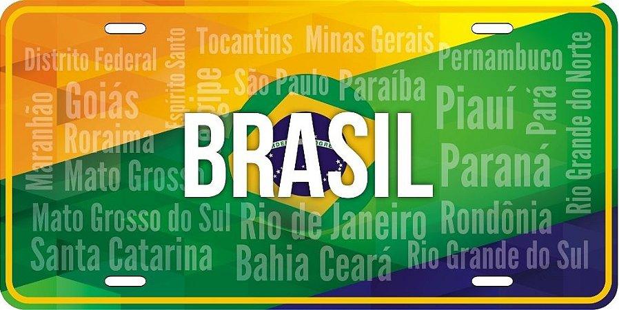 Placa Decorativa Turismo - BRASIL - Cromarca Store 4795397027f2b