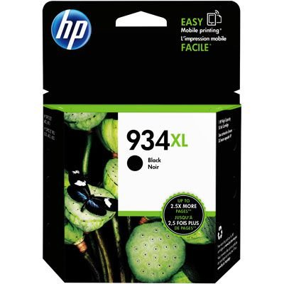 Cartucho HP 934XL preto C2P23AL 25,5ml Original