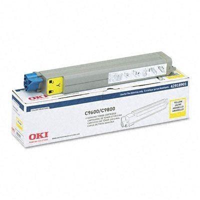 Toner Okidata 42918901 Amarelo C9600hdn C9600n C9800hdn C9800hn Original
