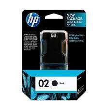 Cartucho HP 02 preto 10ml C8721WL Original
