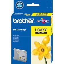 Cartucho de Tinta Brother Amarelo LC37Y Original