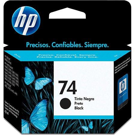 Cartucho HP 74 preto CB335WB HP CX 1 UN