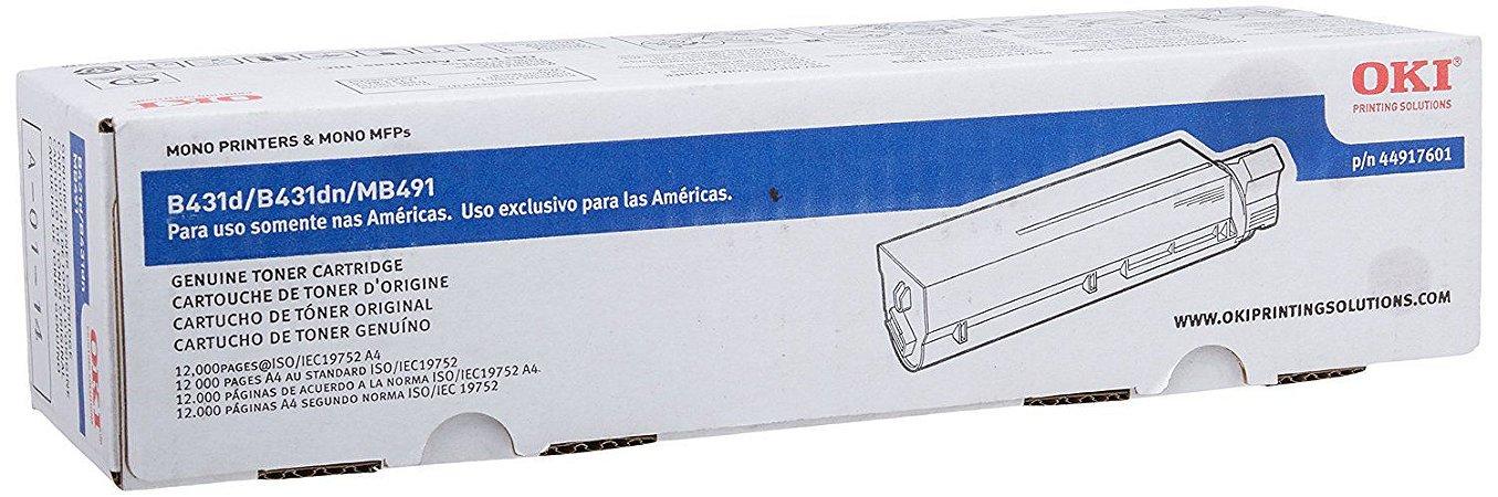 Cartucho de Toner Okidata Preto  44917601 Original