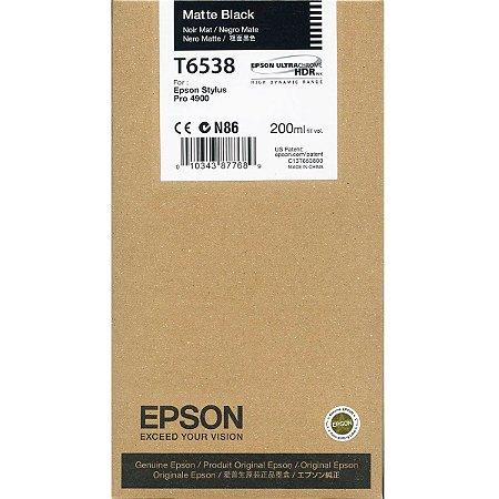 Cartucho Epson T6538 Matte Black p/ Stylus Pro 4900 Original