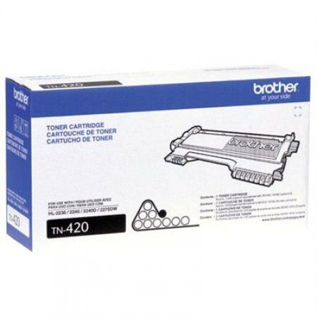 Cartucho toner p/Brother preto 1200 pag. TN420 Brother CX 1 UN