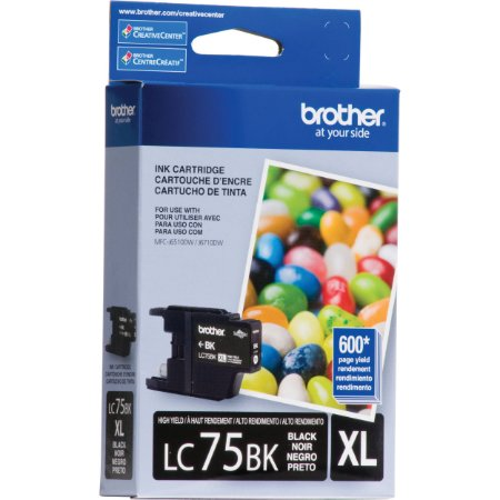Cartucho p/Brother preto LC75BK Brother CX 1 UN