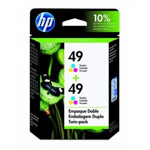 Cartucho HP 49/C8799FL (2x51649A) color duplo twin pack Original Officejet 500 | Deskjet 350 | PSC370