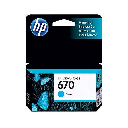 Cartucho de tinta HP 670 CZ114AB - Ciano