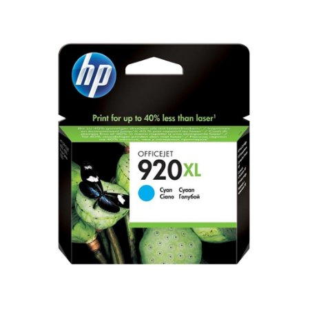 Cartucho HP 920XL Cian Original (CD972AL) Para HP Officejet 7500A, 6000dwn, 6500A CX 1 UN