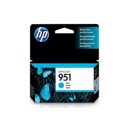 Cartucho HP 951 Cian Original (CN050AB) Para HP Officejet Pro 8600, 8600 Plus, 8610, 8620, 276dw, 8100, 251dw CX 1 UN