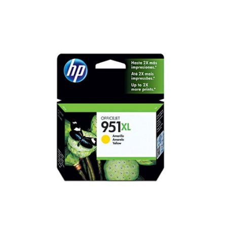 Cartucho HP 951XL Amarelo Original (CN048AB) Para HP Officejet Pro 8600, 8600 Plus, 8610, 8620, 276dw, 8100, 251dw CX 1 UN