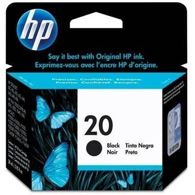 Cartucho de tinta HP 20 Preto C6614D - 28ml