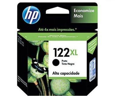 Cartucho HP 122XL Preto Original (CH563HB) Para HP DeskJet 1000, 2050, 3050, 2000 CX 1 UN