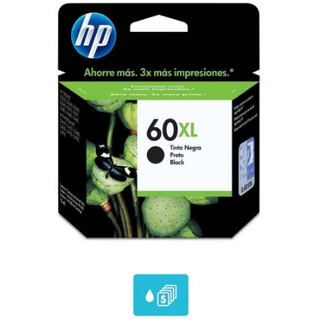Cartucho HP 60XL Preto Alto Volume - CC641WB Original