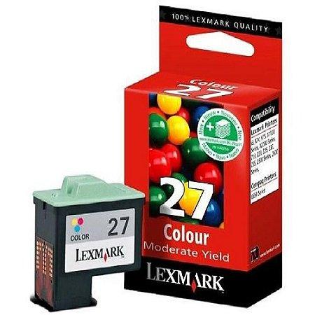 Cartucho de Tinta Lexmark 27 Colorido Moderado ( 10N1193 ) Original