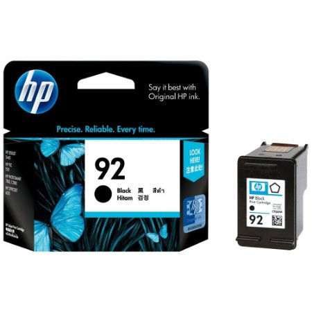 Cartucho HP 92 Preto Original (C9362WB) Para HP Deskjet 6540, 5440, Officejet 6310, PSC 1507, 1510, Photosmart C3140, C3150, C3180, 7850 CX 1 UN