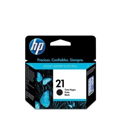 Cartucho HP 21 preto Original (C9351AB) Para HP Officejet J3680, J5508, Deskjet F2224 CX 1 UN