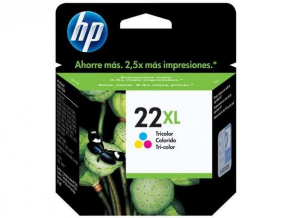Cartucho HP 22XL tricolor 11ml C9352CL HP CX 1 UN