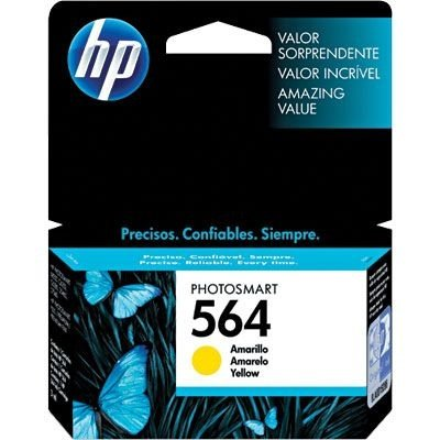Cartucho HP 564 Amarelo 3,5ml Original (CB320WL) Para HP Photosmart C309g, B210a, C5324, Deskjet 3526, Officejet 4622, 4620 CX 1 UN