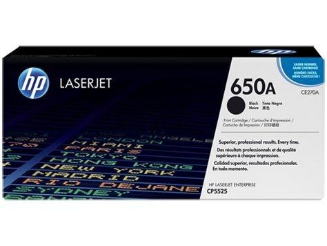 Cartucho de toner LaserJet preto HP 650A ce270a original