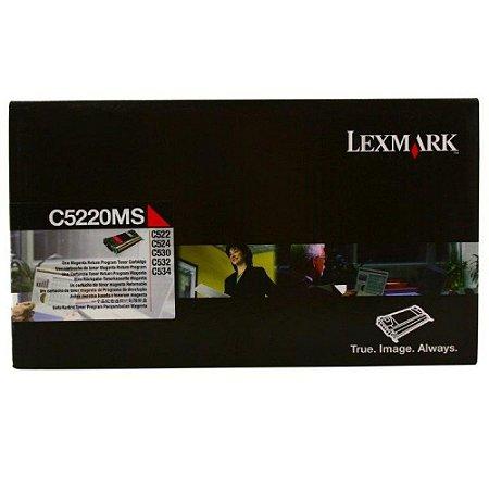 Cartucho de Toner Lexmark - C522 - C5220MS - Magenta - Original